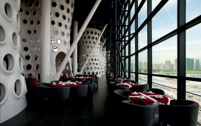 Honeycomb restaurant by sako architects for Negozi di arredamento del distretto di design dallas