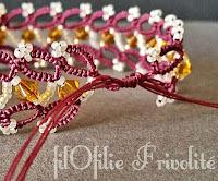Comment réaliser une fermeture coulissante pour un bracelet en frivolité