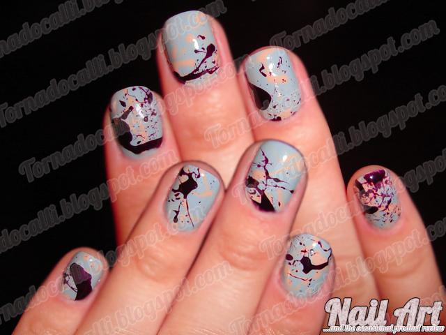 A Fistful Of Fingernails Nail Art Amp Cosmetic Goodness Paint Splatter Mani