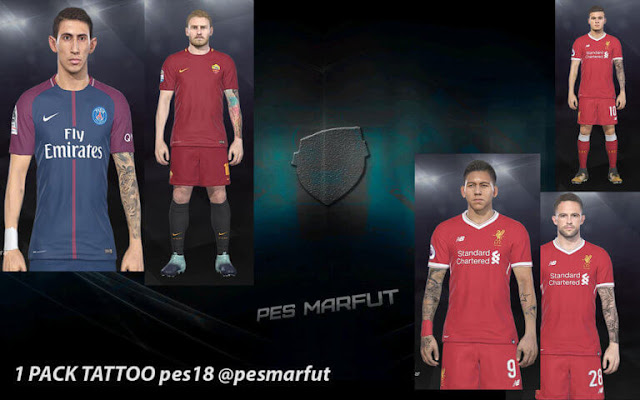 Tattoo Pack PES 2018