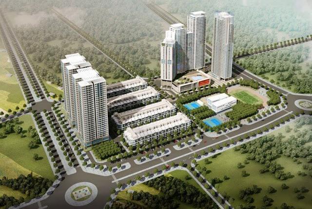Phối cảnh tổng thể dự án HD Moon City