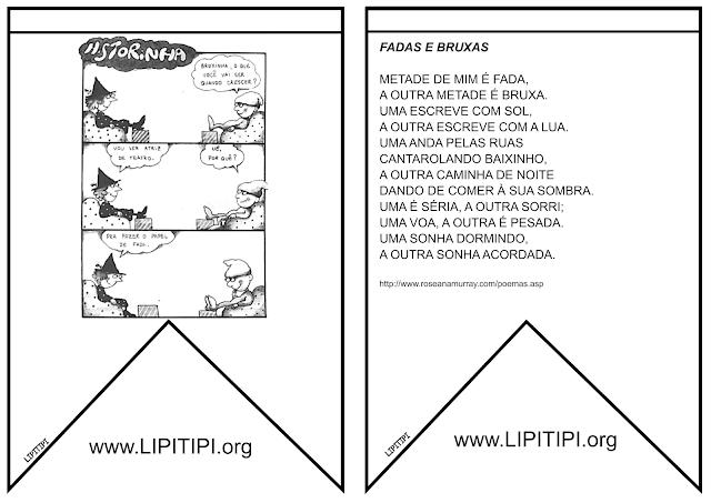 18 Bandeirolas juninas com textos infantis