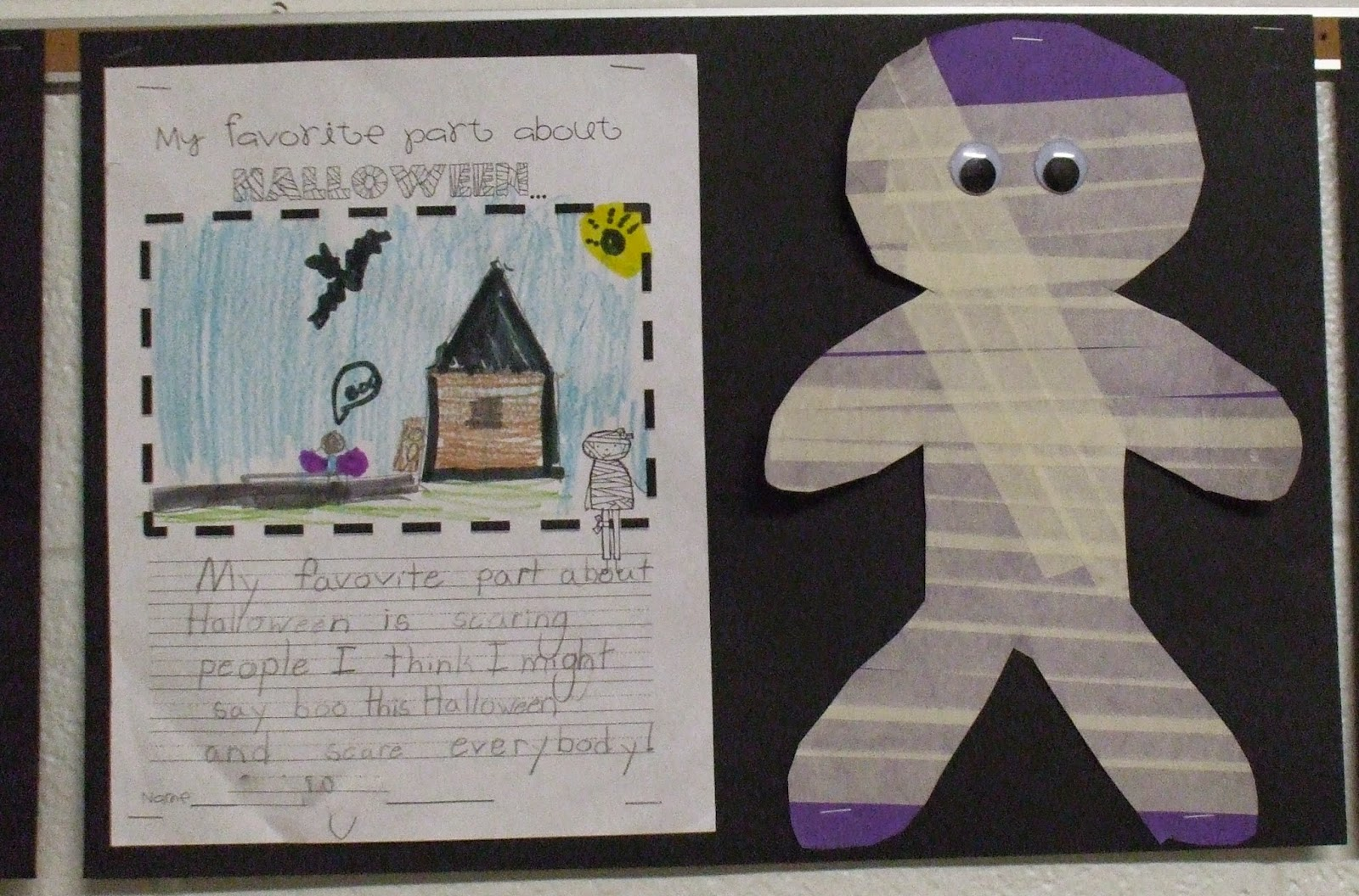 Welcome To First Grade Room 5 Halloween Writing Activity