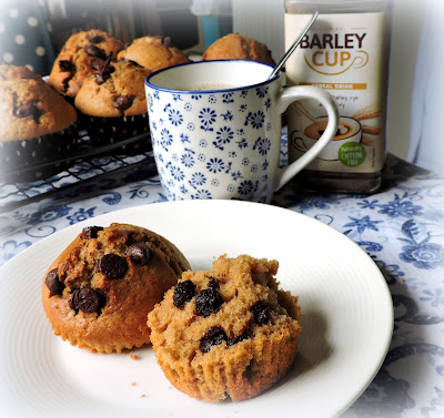Barley Cup & Chocolate Chip Muffins
