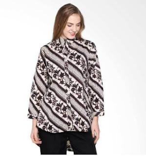 Model Batik Formal Wanita