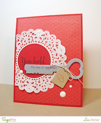 The Key to My Heart card-designed by Lori Tecler/Inking Aloud-stamps and dies from SugarPea Designs