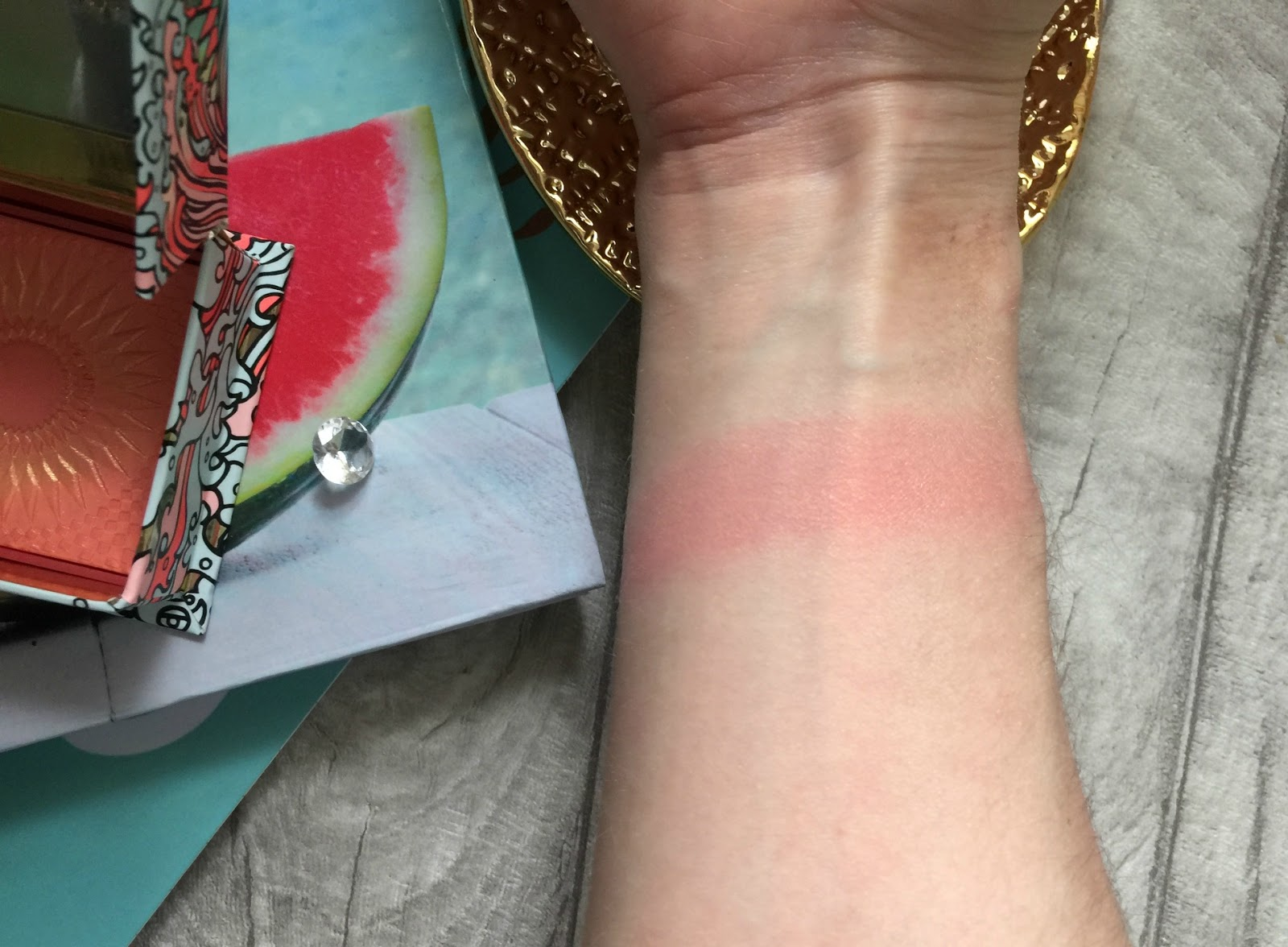 benefit galifornia blusher swatch