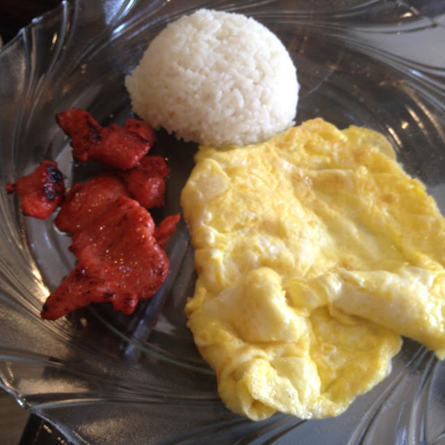 Tocino breakfast meal at Barako Haus