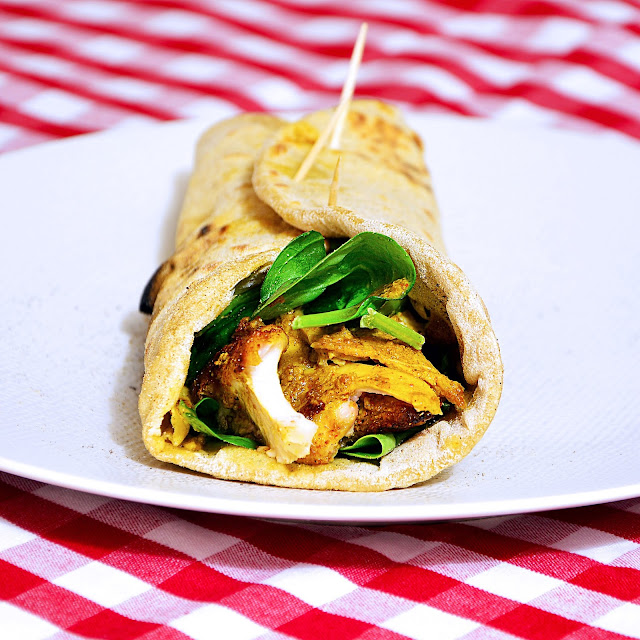 Tandoori chicken wrap.