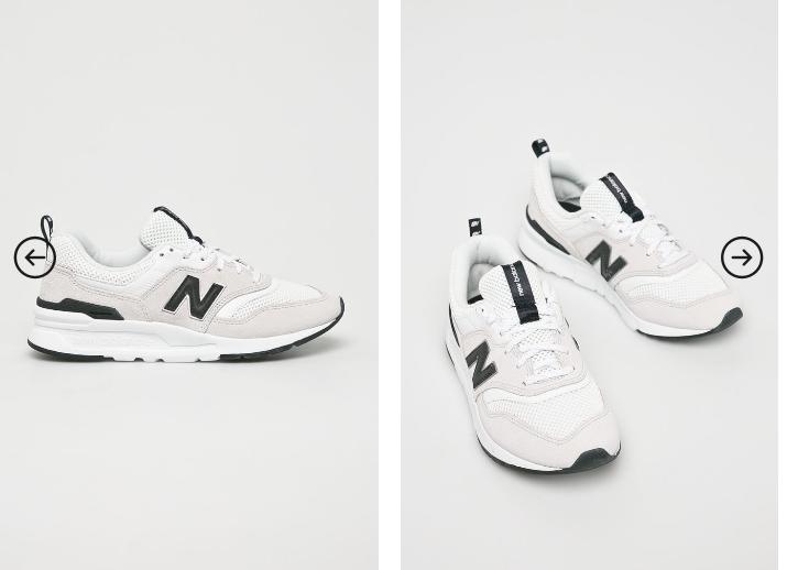 Adidasi femei moderni albi din piele New Balance CW997HAA