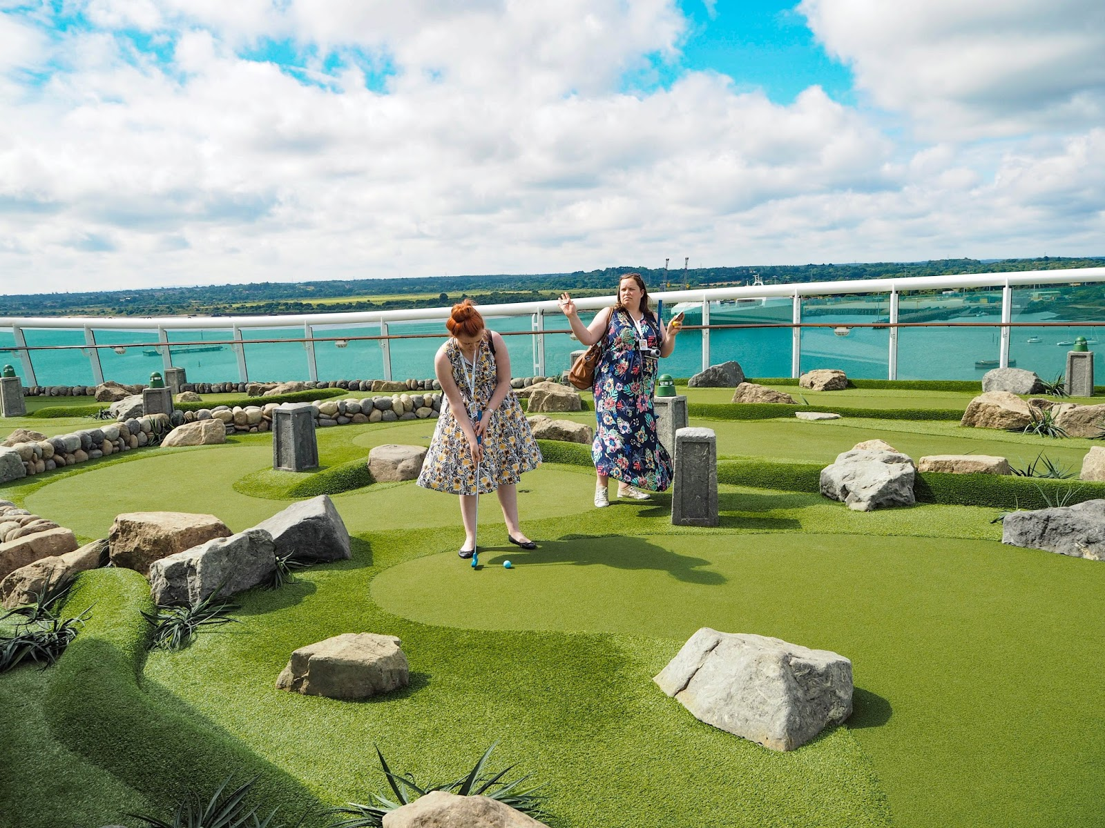 Mini golf on Royal Caribbean's Navigator of the Seas Cruise Ship