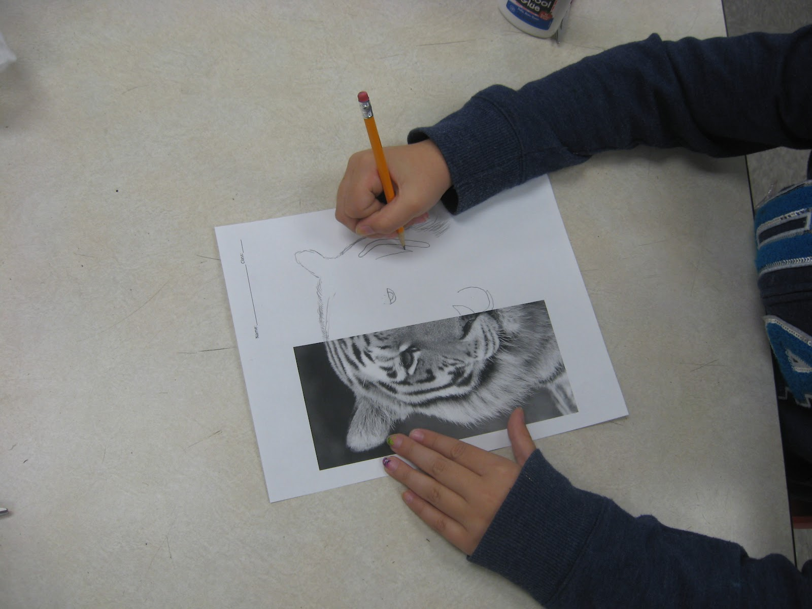Art Sub Lessons: Draw the Other Half worksheets
