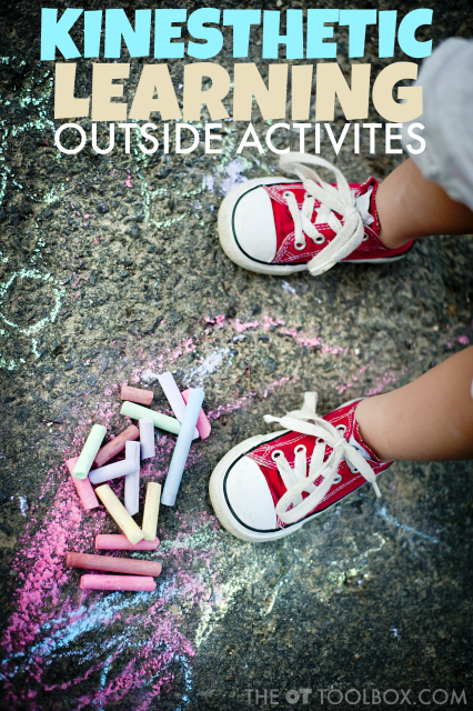 Try these kinesthetic learning activities for outside to help kids who need to move while learning.
