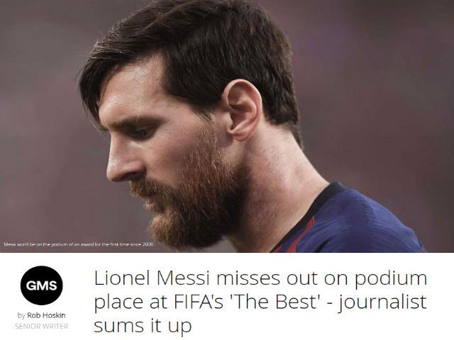 """""""The Best"""" hạ bệ Messi: Báo chí sốc nặng, ám chỉ FIFA thiên vị Ronaldo 4"""
