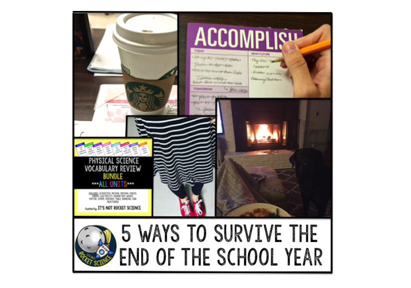 It's the end of the year and we are all trying to not go a little crazy.  Looking for tips for how not to quit your job and run for the hills at the end of the year?  Read 5 Ways to Survive the End of the School Year - It's Not Rocket Science