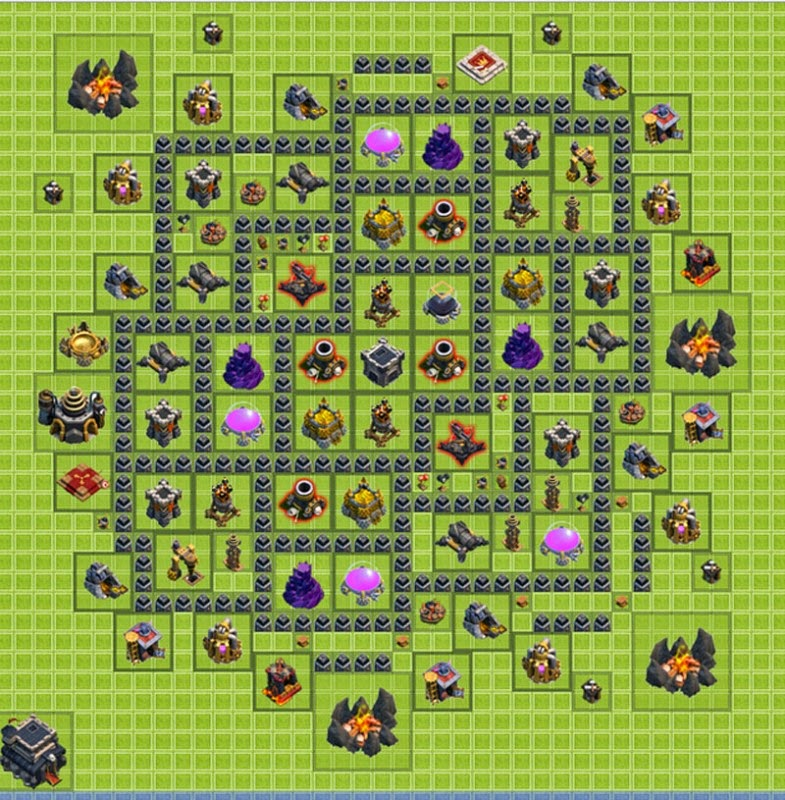 coc, th 9, clash of clans, gambar, images