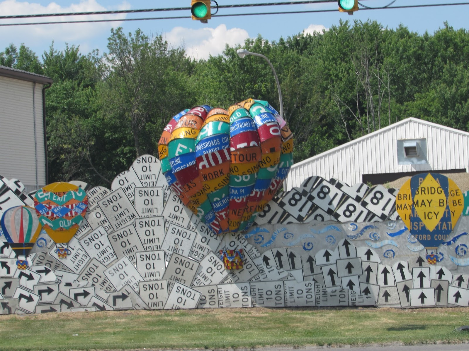 Some Great Creativity By Allegheny College Turned This Otherwise Mundane  Penndot Road Maintenance Building Into A Public Art Installation, By  Repurposing