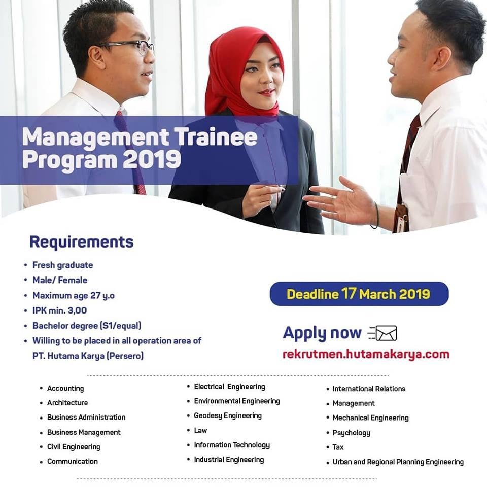 Lowongan Kerja PT Hutama Karya (Persero) - Deadline : 17 Maret 2019 - Lokernas.com | Rekrutmen ...