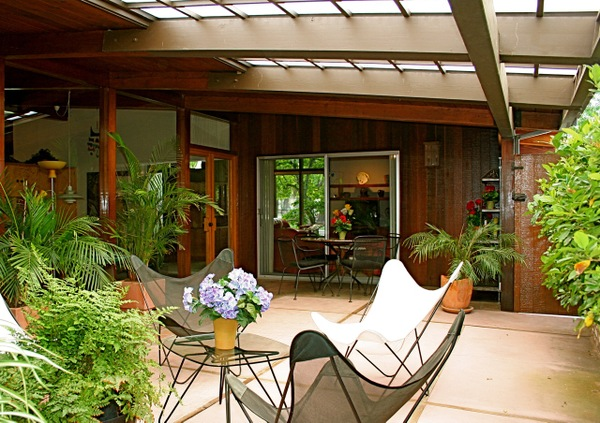 braxton and yancey: PATIO CULTURE AND MID CENTURY LANDSCAPING on Mid Century Patio Design  id=76888