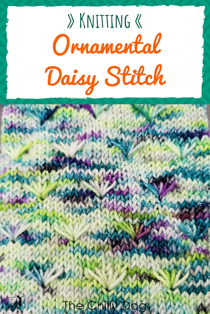 Stitch of the Month: Add a bouquet of flowers to your next knitting project with the Ornamental Daisy Stitch.