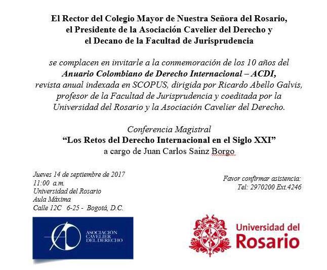 Presentación Anuario Colombiano de Derecho Internacional Universidad ...