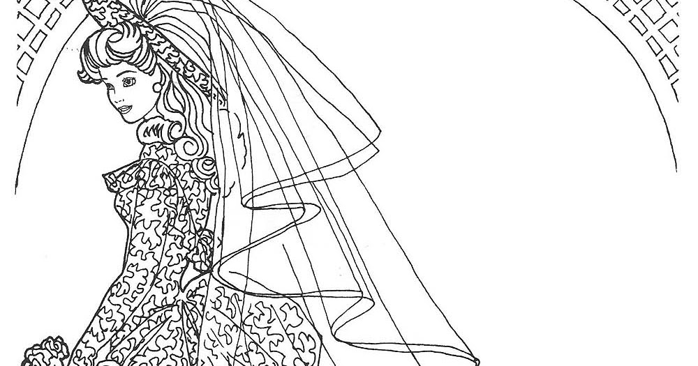 BARBIE COLORING PAGES: BARBIE WEDDING DRESS COLORING PAGES