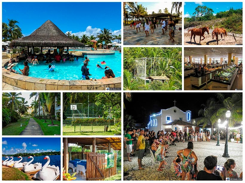 Atividades do complexo Costa do Sauípe - resort all inclusive na Bahia