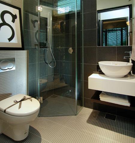 small modern bathroom design 2017  Grasscloth Wallpaper