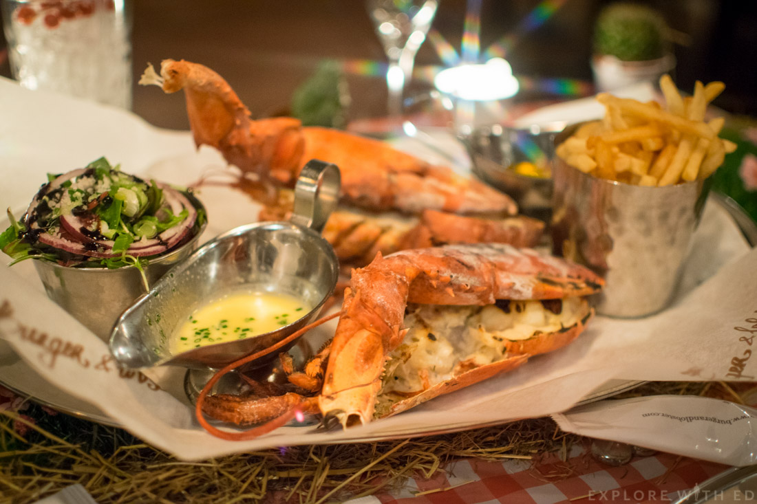 Grilled Lobster, Steamed Lobster, Burger and Lobster Cardiff