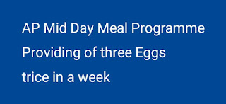 Mid Day Meal Programme Providing of three Eggs trice in a week