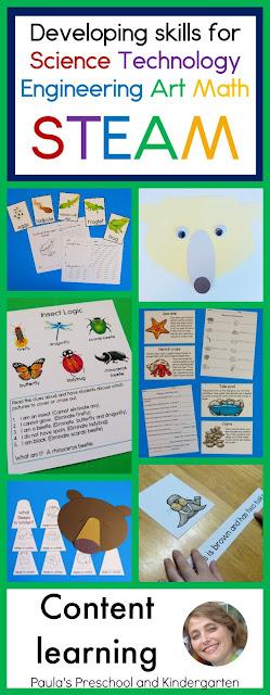 STEAM: 7 ways to teach the content, from Paula's Preschool and Kindergarten