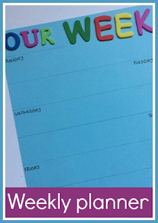 How to make a weekly activity planner craft