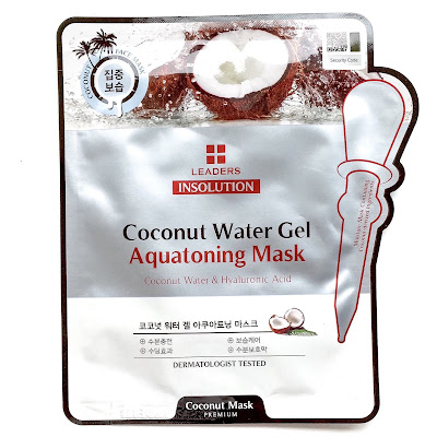 leaders insolution coconut water gel aquatoning mask review