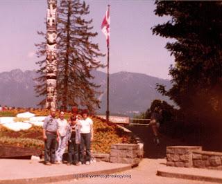 Belair family in Vancouver's Stanley Park in 1981