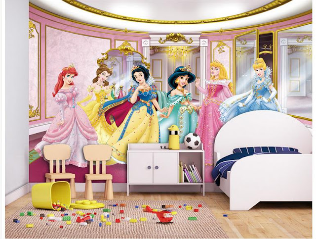 Wall Murals for Kids Rooms Wallpaper princess Girls Room
