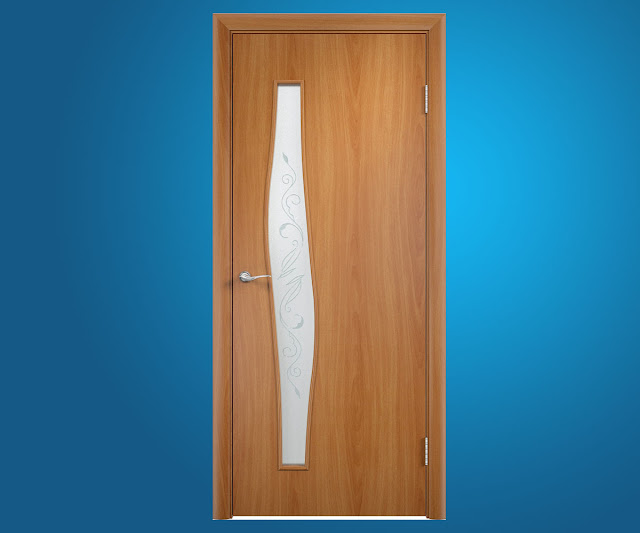 Не дорогая ламинировання дверь «Тип С-10 Витраж»