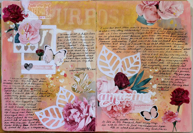 """ Purpose "" Art Journal layout by Bernii Miller for Sugar Maple Paper Co,"