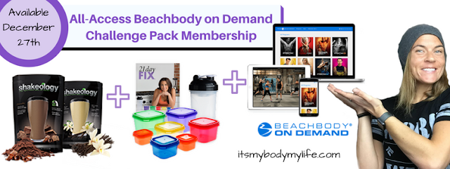 All-Access Beachbody on Demand challenge pack, New Year New you, challenge group, at home fitness, streaming, stream workouts, Jaime Messina
