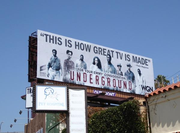 Underground season 1 Emmy 2016 FYC billboard