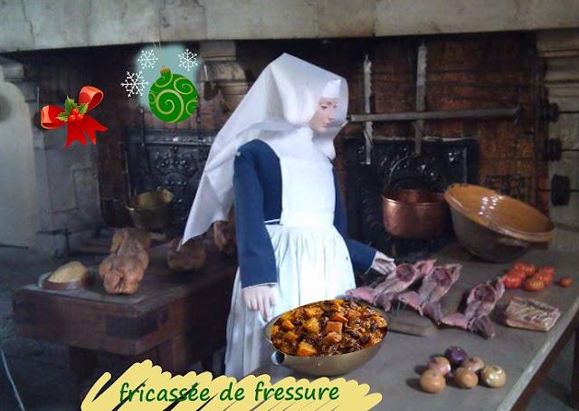 Coeur, foie, poumon de porc fricassé, repas bourguignon sans gluten