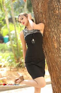 Actress Poojitha Pallavi Naidu Stills in Black Short Dress at Inkenti Nuvve Cheppu Movie Platinum Disc Function  0004.JPG