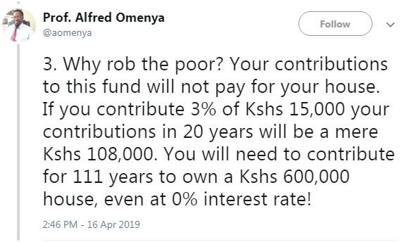 3 - Kenyan Professor breaks down the #HousingFundLevy and reveals how UHURU intends to steal from Kenyans