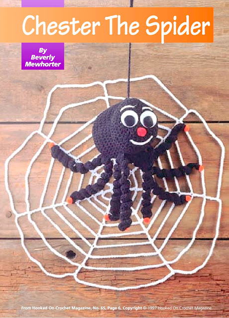 Chester The Halloween Spider: Free Crochet Pattern!
