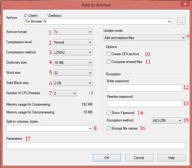 Digital Studio 9: 7-zip Compression Settings Guide