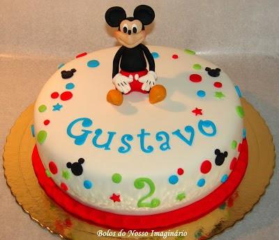 Bolo Mickey Mouse branco