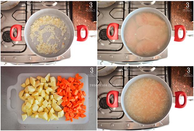 como fazer canja galinha