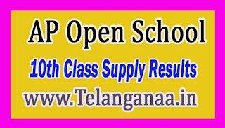 AP Open School 10th Class Supply Results Released 2016