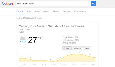 Hal Menarik yang Bisa Di lakukan Google Search - Cuaca