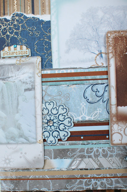 Winter Wonderland Fun Layout Three Ways by Ilene Tell using BoBunny Whiteout collection detail 2