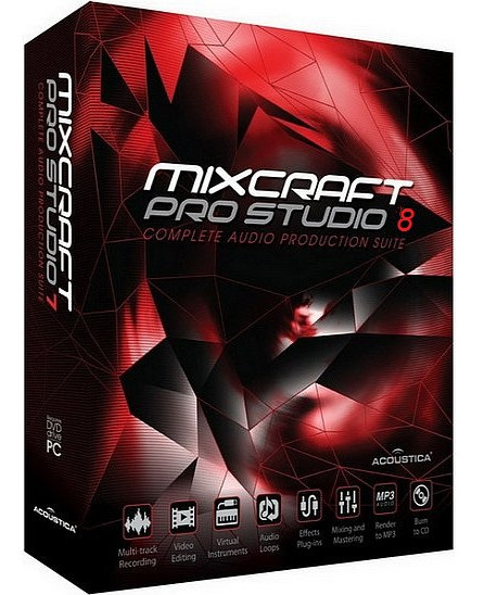 Acoustica Mixcraft Pro Studio 8.1 Build 405 poster box cover